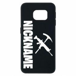 Чохол для Samsung S6 EDGE Nickname fortnite weapons