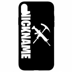 Чохол для iPhone XR Nickname fortnite weapons