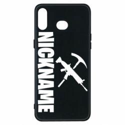 Чохол для Samsung A6s Nickname fortnite weapons