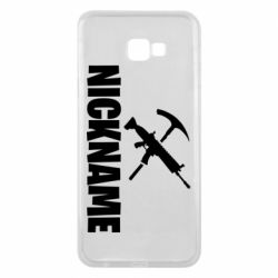 Чохол для Samsung J4 Plus 2018 Nickname fortnite weapons