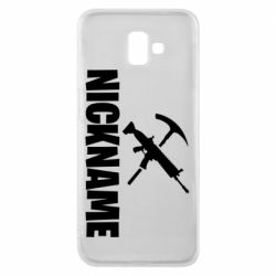 Чохол для Samsung J6 Plus 2018 Nickname fortnite weapons