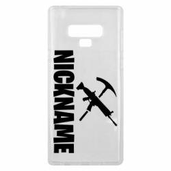Чохол для Samsung Note 9 Nickname fortnite weapons