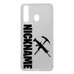 Чохол для Samsung A60 Nickname fortnite weapons