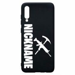 Чохол для Samsung A70 Nickname fortnite weapons