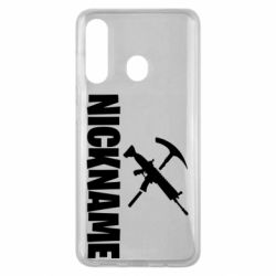 Чохол для Samsung M40 Nickname fortnite weapons