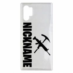 Чохол для Samsung Note 10 Plus Nickname fortnite weapons
