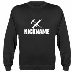 Реглан (світшот) Nickname fortnite weapons