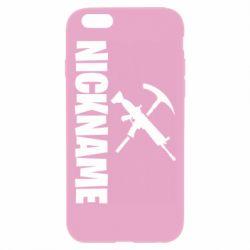 Чохол для iPhone 6 Plus/6S Plus Nickname fortnite weapons