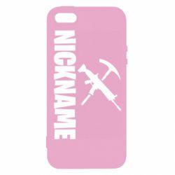 Чохол для iphone 5/5S/SE Nickname fortnite weapons