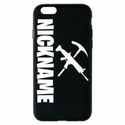 Чохол для iPhone 6/6S Nickname fortnite weapons