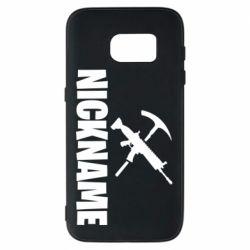 Чохол для Samsung S7 Nickname fortnite weapons