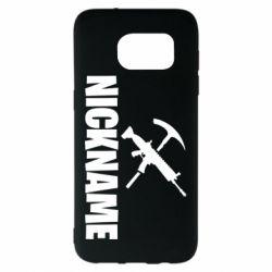 Чохол для Samsung S7 EDGE Nickname fortnite weapons