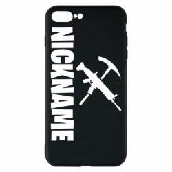 Чохол для iPhone 8 Plus Nickname fortnite weapons