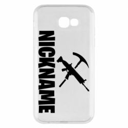 Чохол для Samsung A7 2017 Nickname fortnite weapons