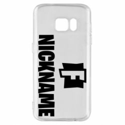 Чехол для Samsung S7 Nickname fortnite