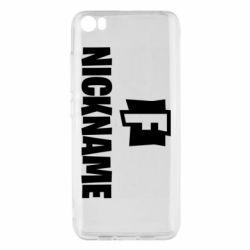 Чехол для Xiaomi Mi5/Mi5 Pro Nickname fortnite