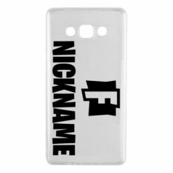 Чехол для Samsung A7 2015 Nickname fortnite