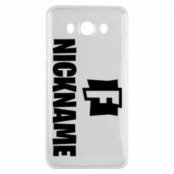 Чехол для Samsung J7 2016 Nickname fortnite