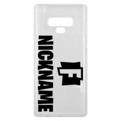 Чехол для Samsung Note 9 Nickname fortnite