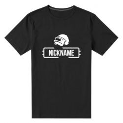 Чоловіча стрейчева футболка Nickname helmet pubg