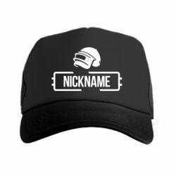 Кепка-тракер Nickname helmet pubg