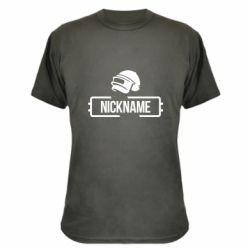 Камуфляжна футболка Nickname helmet pubg