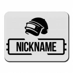 Килимок для миші Nickname helmet pubg