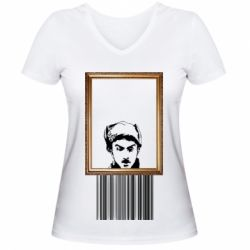 Жіноча футболка з V-подібним вирізом Микола Хвильовий - Я (Романтика)