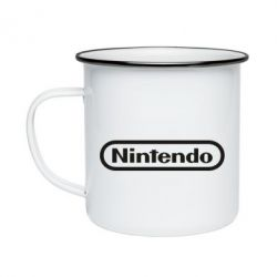 Кружка емальована Nintendo logo