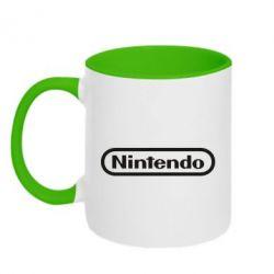 Кружка двоколірна 320ml Nintendo logo