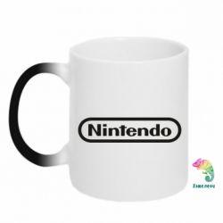 Кружка-хамелеон Nintendo logo