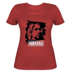 Женская футболка Nirvana Kurt Cobian - FatLine