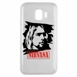Чехол для Samsung J2 2018 Nirvana Kurt Cobian