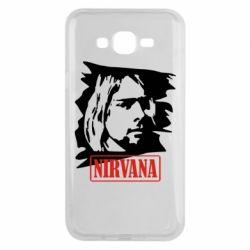 Чехол для Samsung J7 2015 Nirvana Kurt Cobian