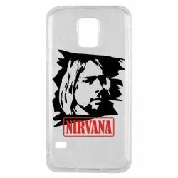 Чехол для Samsung S5 Nirvana Kurt Cobian