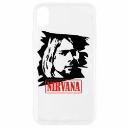 Чехол для iPhone XR Nirvana Kurt Cobian