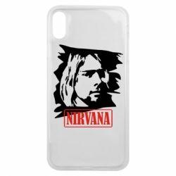 Чехол для iPhone Xs Max Nirvana Kurt Cobian