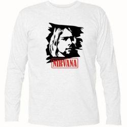 Футболка с длинным рукавом Nirvana Kurt Cobian - FatLine