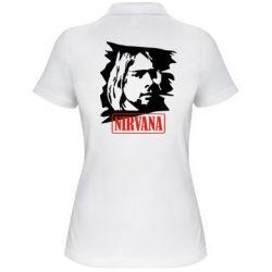 Женская футболка поло Nirvana Kurt Cobian - FatLine