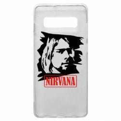 Чехол для Samsung S10+ Nirvana Kurt Cobian