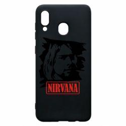 Чехол для Samsung A20 Nirvana Kurt Cobian