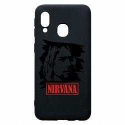 Чехол для Samsung A40 Nirvana Kurt Cobian