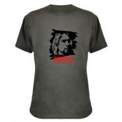 Камуфляжная футболка Nirvana Kurt Cobian - FatLine