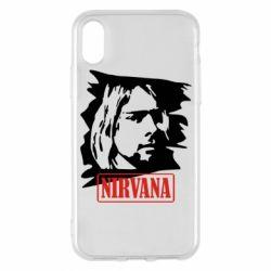 Чехол для iPhone X/Xs Nirvana Kurt Cobian