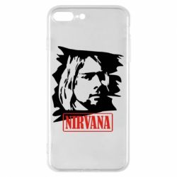 Чехол для iPhone 8 Plus Nirvana Kurt Cobian