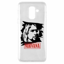 Чехол для Samsung A6+ 2018 Nirvana Kurt Cobian