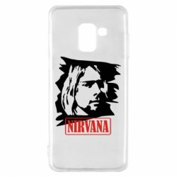 Чехол для Samsung A8 2018 Nirvana Kurt Cobian