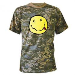 Камуфляжная футболка Nirvana Logo 3D - FatLine