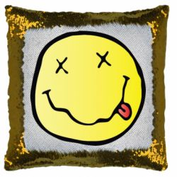 Подушка-хамелеон Nirvana Logo 3D