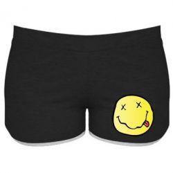Женские шорты Nirvana Logo 3D
